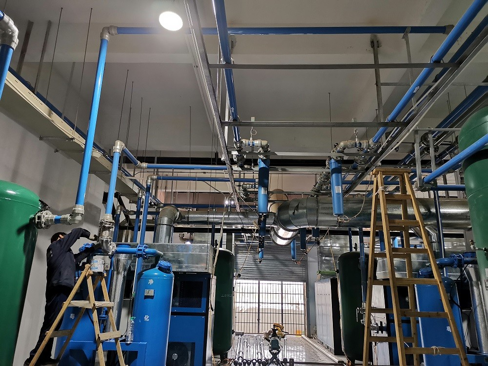 Preparation and precautions before air compressor pipe laying